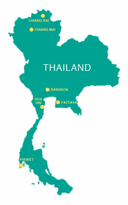 Golf Thailand_Homepage_Map of Thailand